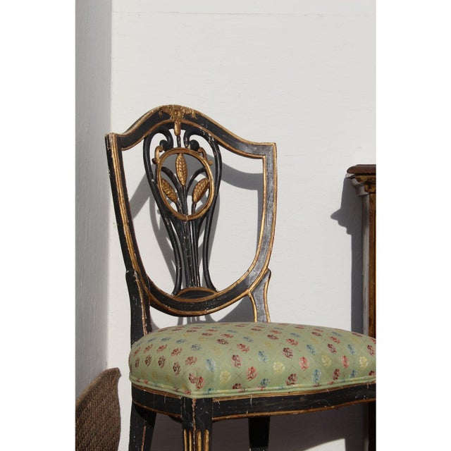 Wood Early 19th C. Neoclassical European Shield Back Side Chairs - a Pair For Sale - Image 7 of 11