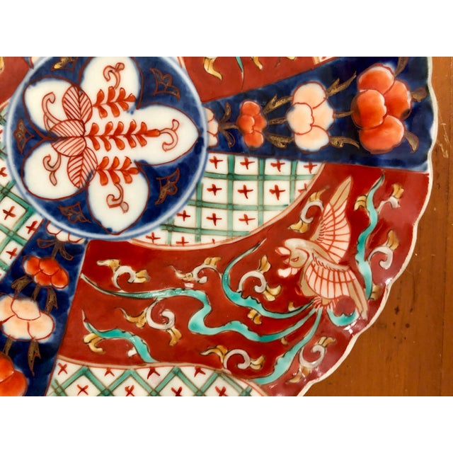 beautiful antique Imari dish- has strong geometrical design. Great addition to an Imari collection! Excellent condition!