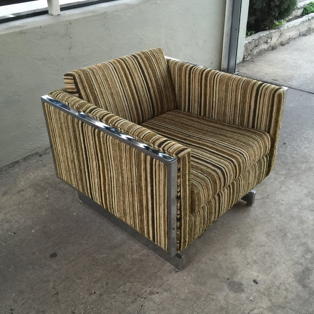 Patrician Furniture Co. Chrome Frame Lounge Chair For Sale - Image 4 of 9
