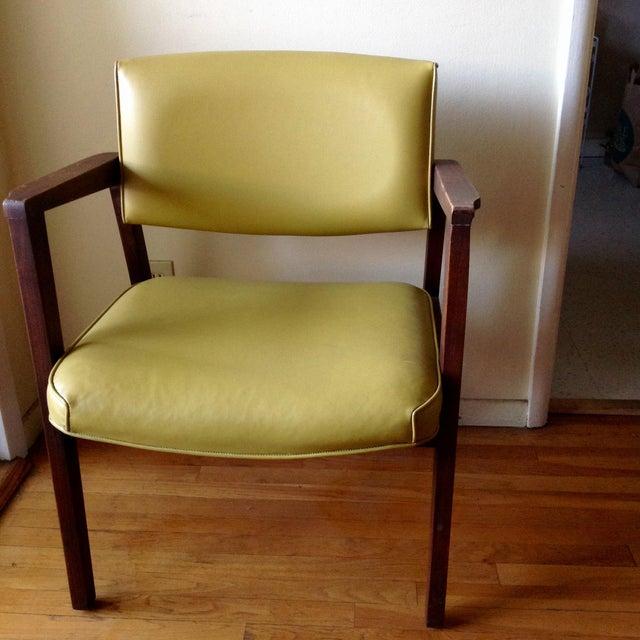 Mid Century Modern Armchairs: Mid-Century Modern Chartreuse Danish Style Armchair