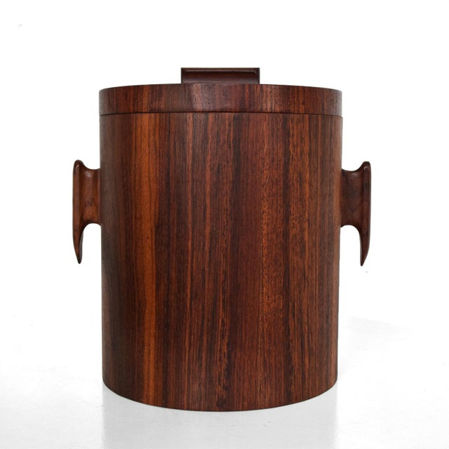 Mid-Century Modern Rosewood Ice Bucket For Sale - Image 11 of 11