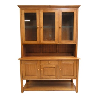 1990s Country Ethan Allen Color China Cabinet For Sale