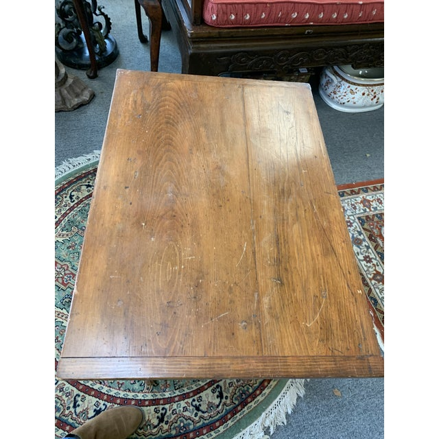 Rustic Antique Rustic Pine Two-Tier Side Table For Sale - Image 3 of 9