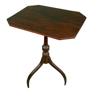 Antique Mahogany Tilt Top Candle Stand, Circa 1820 For Sale