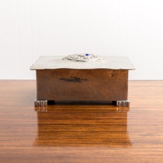 Art Deco Danish Art Deco Silver Keepsake Box For Sale - Image 3 of 6