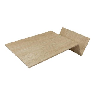 Final Marckdown > 1970s Travertine Table For Sale