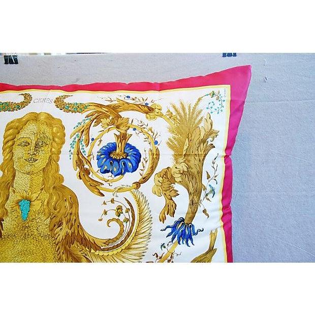 Custom Hermes Ceres Mermaid Silk Pillow Cushion - Image 6 of 8