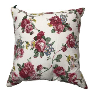 "French Country Ralph Lauren Rose 18"" Square Pillow For Sale"