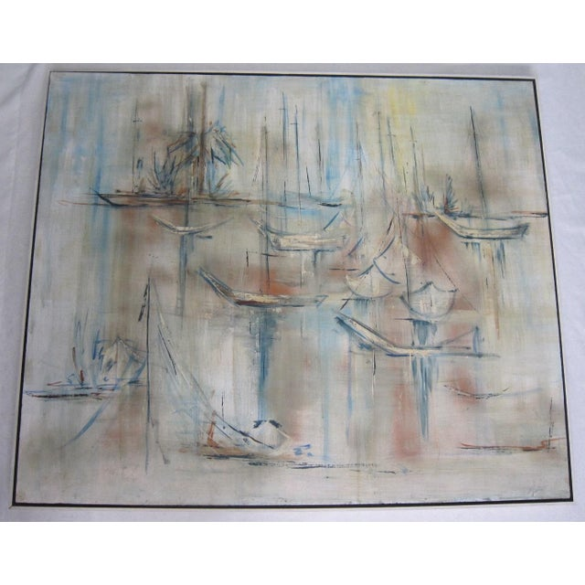 Mid-Century Abstract Nautical Painting - Image 2 of 6