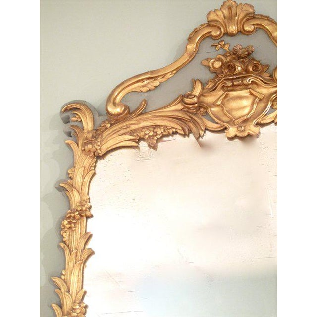 French Louis XV Style Painted and Gilt Mirror - Image 5 of 11