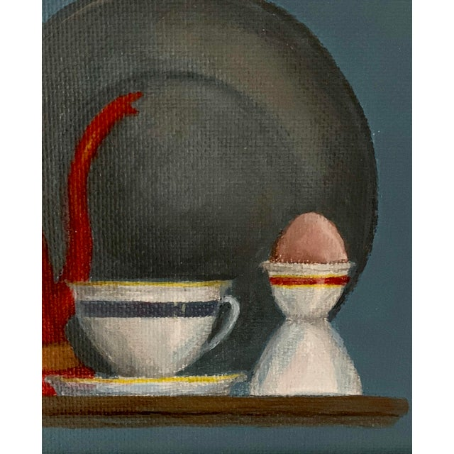 """Mid-Century Modern """"Breakfast"""" Acrylic Painting For Sale - Image 4 of 8"""