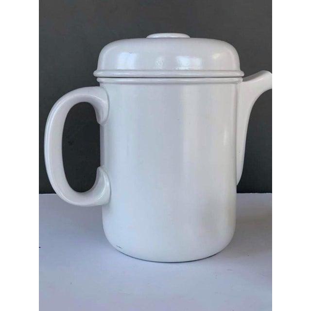 Rosenthal Vintage Flammfest Thomas Rosenthal Germany Tea Coffee Pot White For Sale - Image 4 of 6