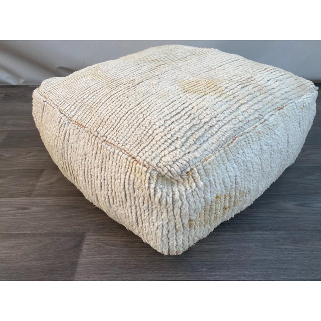 1980s Berber Moroccan Pouf Cover For Sale - Image 12 of 13
