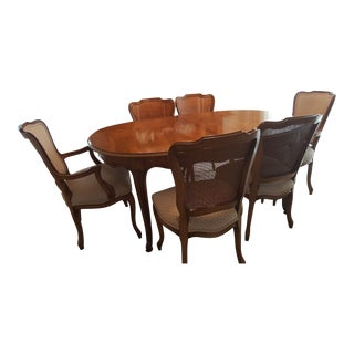 Watertown Slide Dining Room Table, 6 Chairs and Leaf Set For Sale