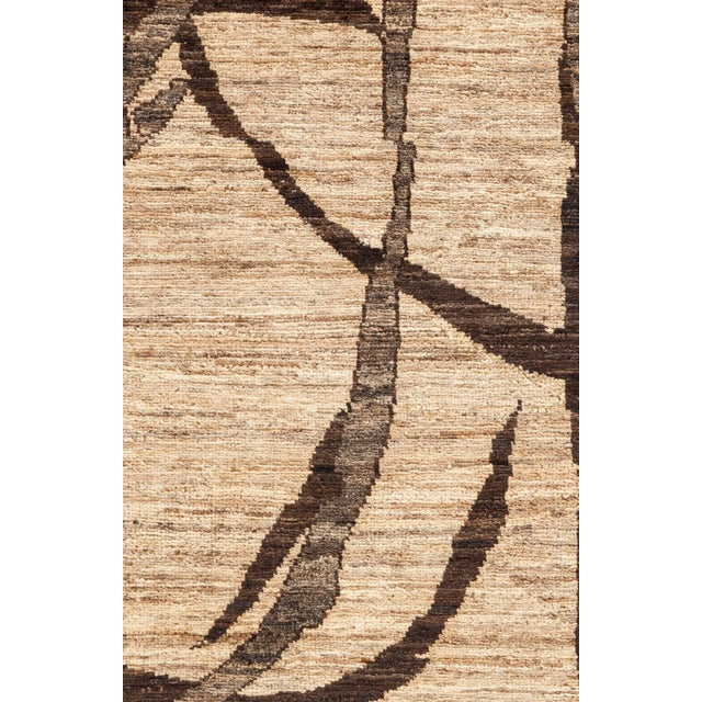 """Gabbeh Hand Knotted Area Rug - 8'3"""" X 9'10"""" For Sale - Image 4 of 4"""