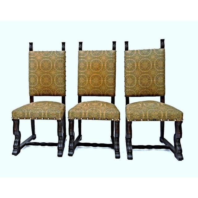 Spanish Style Mahogany Antique Dining Chairs Set Of 6 Chairish