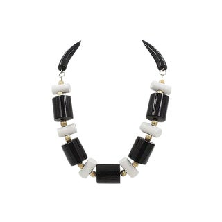 1980s Judith Hendler Black & White Necklace For Sale