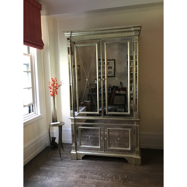 Neiman Marcus Mirrored Armoire - Image 2 of 7