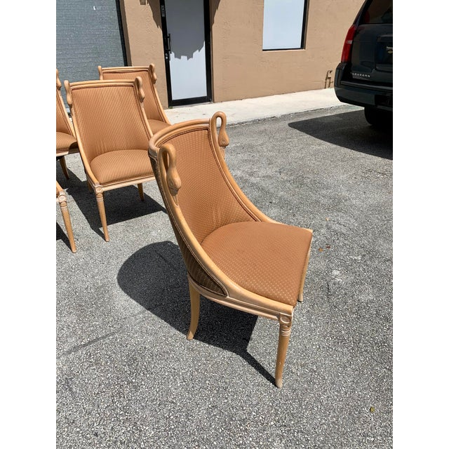"""Mid-Century Modern """"Gondola"""" Swan Neck Dining Chairs - Set of 6 For Sale - Image 10 of 13"""