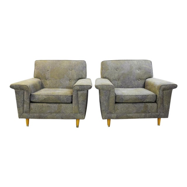 Pair of American Armchairs, Rowe - New Upholstery by Pierre Frey Collection For Sale