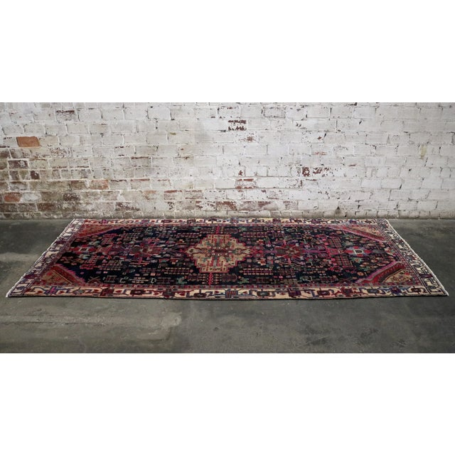 """Midnight in the Garden Persian Rug - 4'7"""" x 10'8"""" - Image 4 of 7"""