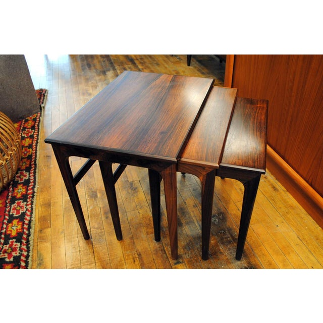 Danish Rosewood Nesting Tables - Set of 3 - Image 3 of 9