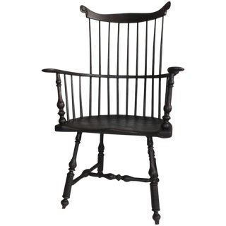 18th Century Original Painted New England Windsor Side Chair For Sale