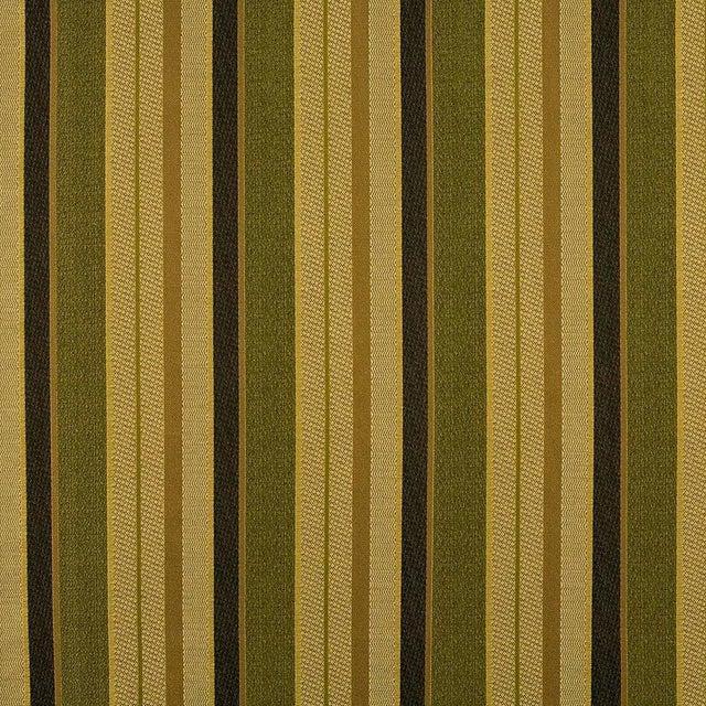 Sample, Suzanne Tucker Home Fleur De Plume Stripe in Peridot For Sale