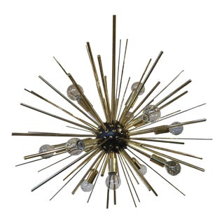 Gold & Black Atomic Chandelier For Sale