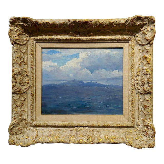 Frank Tenney Johnson -1920s View of the Salton Sea in the California Desert-Oil Painting For Sale
