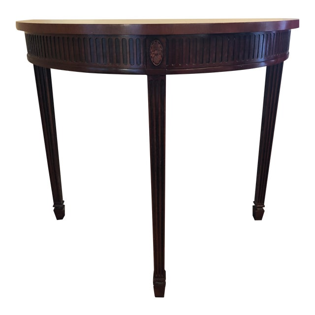 Hickory Chair Mahogany Demilune Table For Sale