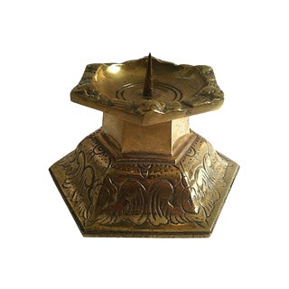 Gustavian Style Copper Candle Holder