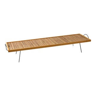 1940s William Katavolos Ross Littell and Douglas Kelley Laverne Split Wood Cocktail Table For Sale