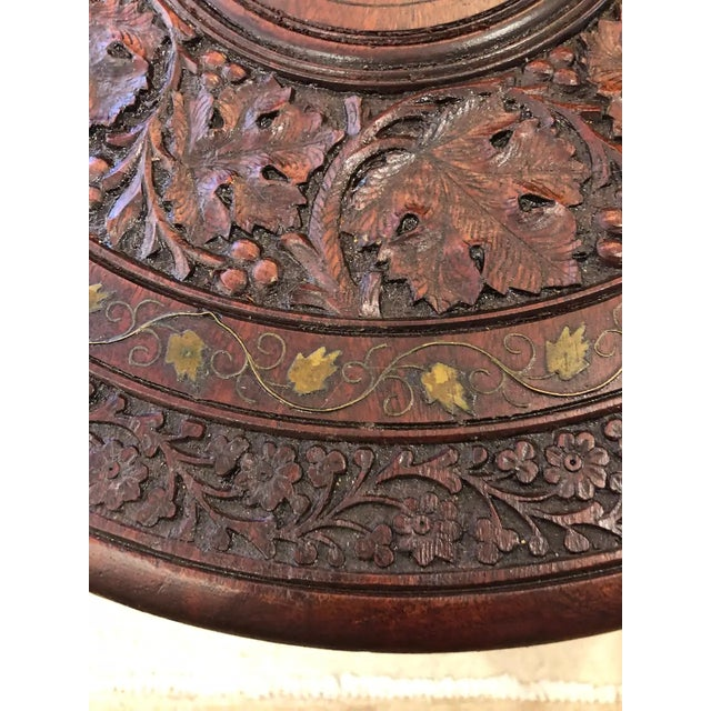 Sized Round Moorish Anglo-Indian End Table For Sale In Philadelphia - Image 6 of 8
