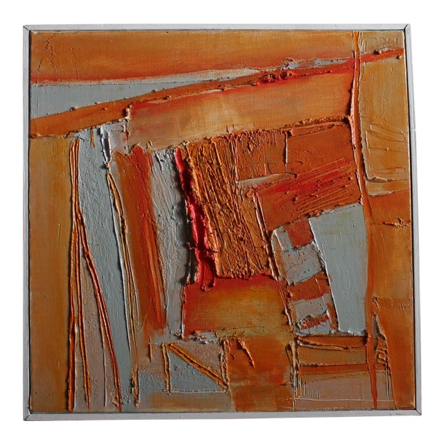 Sylvie Guillemé Abstract Impasto Oil Painting - Study in Orange - Image 1 of 6