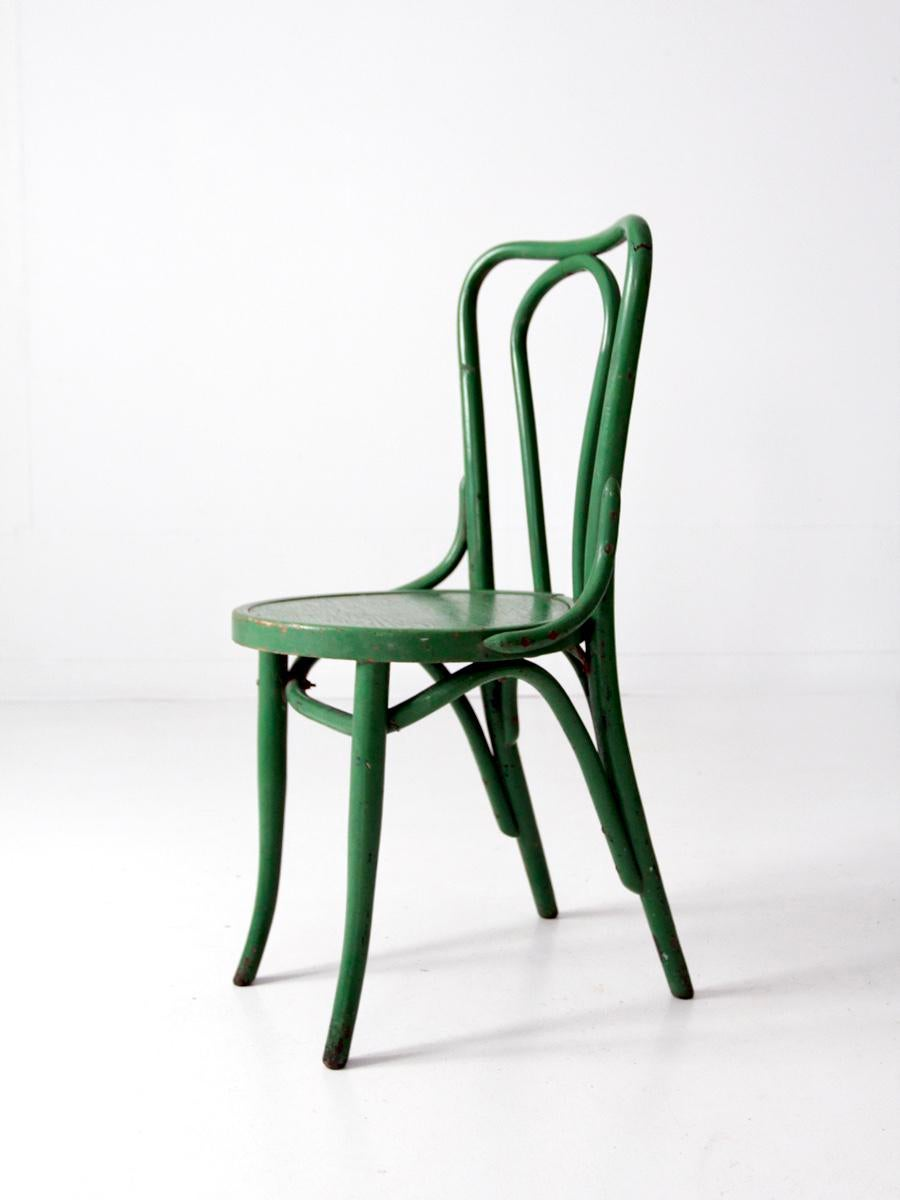 1930s Green Bentwood Chair   Image 3 Of 9