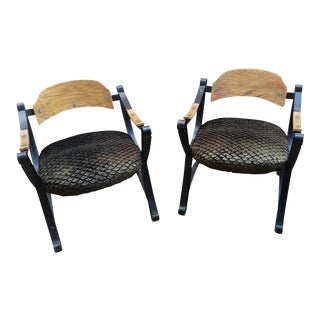 Mid-Century New York City Wrought Iron Lounge Chairs - a Pair For Sale