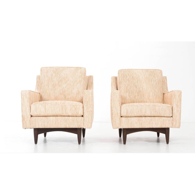 Pair of Woven Lounge Chairs For Sale - Image 4 of 14