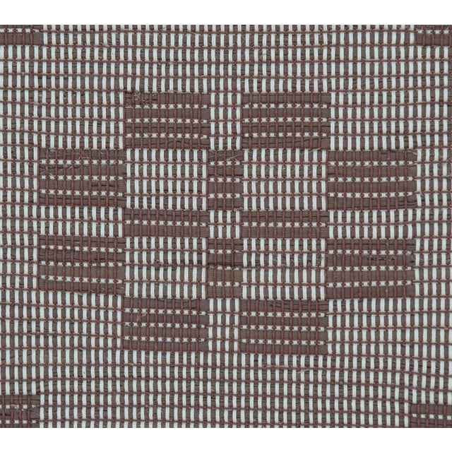 "Textile Handwoven Reversible Vintage Swedish Rug by Scandinavian Made 85"" x 27"" For Sale - Image 7 of 9"