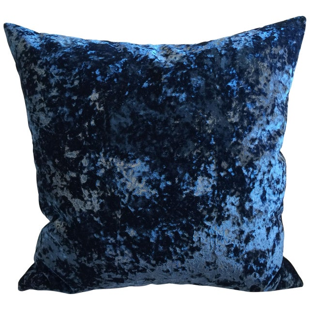 Vintage 1940's Royal Blue Velvet Pillows - Pair - Image 1 of 3