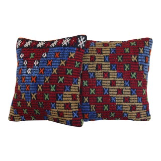 Decorative Handmade Mediterranean & Aegean Pillow Covers - A Pair For Sale