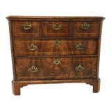 Image of Antique English Walnut Chest of Drawers For Sale
