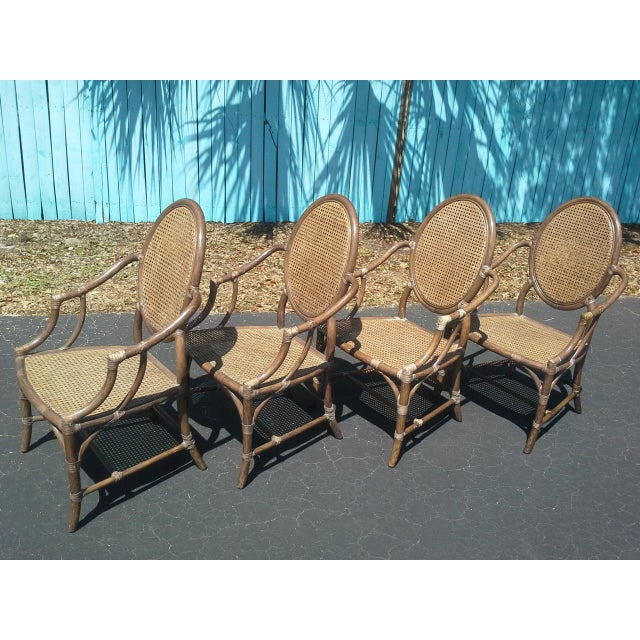 1960s McGuire Louis XVI Cane Seat Chairs - Set of 4 For Sale - Image 5 of 9