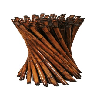 Magnificent Pedestal Bamboo Cluster Center or Dining Table by Budji Layug For Sale
