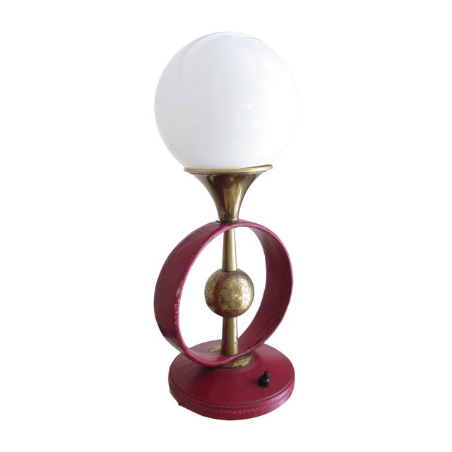 Jacques Adnet Attributed Lamp For Sale