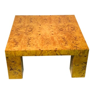 Exceptional Burl Wood Table For Sale