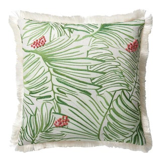 """Justina Blakeney X Loloi Green / Multi 22"""" X 22"""" Cover with Down Pillow For Sale"""