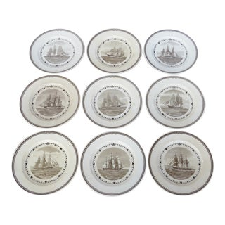 Wedgwood Clipper Ship Plates - Set of 9 For Sale