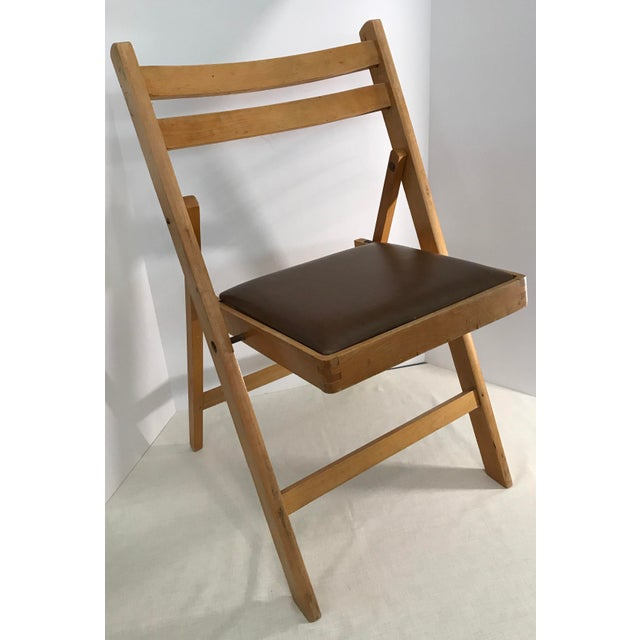 Vintage Wooden Folding Chair, Made in Romania For Sale - Image 5 of 11 - Vintage Wooden Folding Chair, Made In Romania Chairish