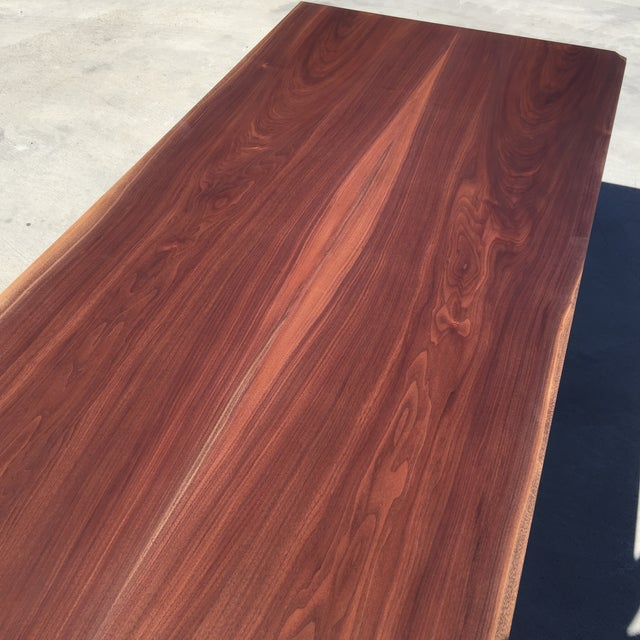 Contemporary Hardwood Table & Cube Base - Image 6 of 6